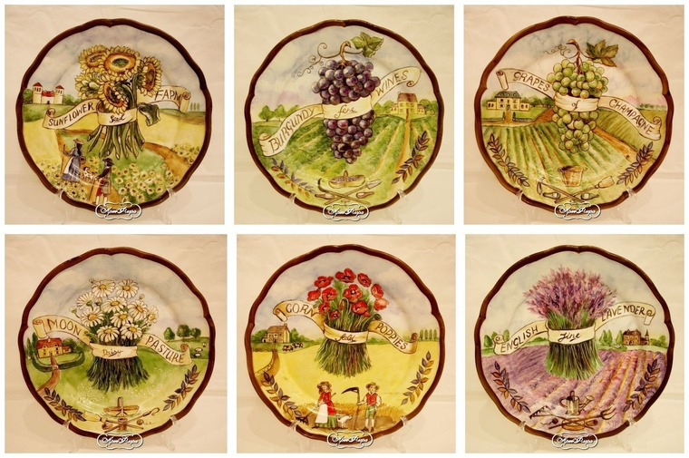 Декоративные тарелки на стену в стиле прованс