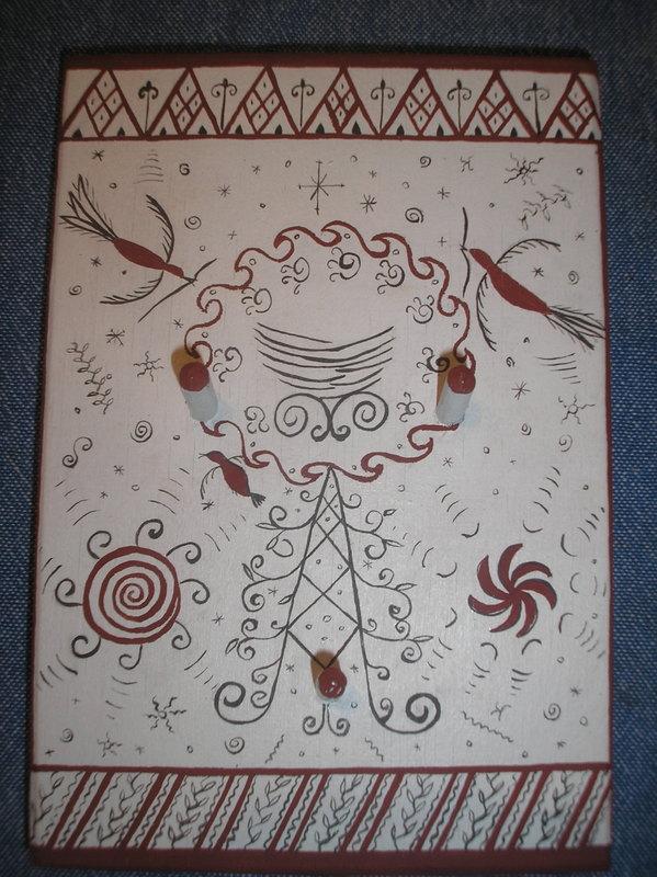 мезенская роспись, керамика ручной работы
