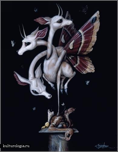 Абстрактный поп-сюрреализм художника Грега Симкинса (Greg  Simkins)