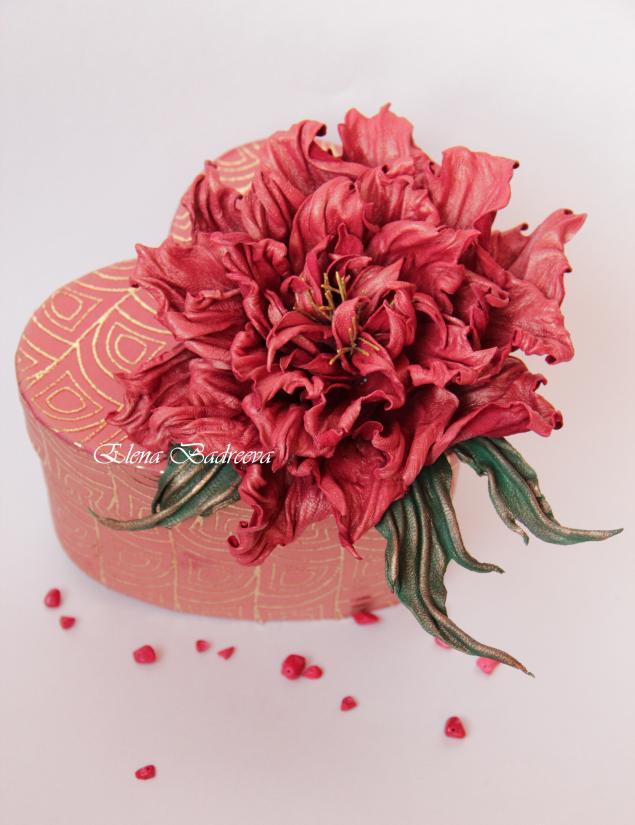 обучение, кожаные цветы, мастер-класс по цветам, брошь-цветок, авторская работа