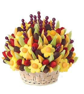 фруктовая корзина, вкусно