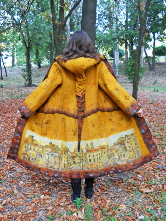 пальто войлочное