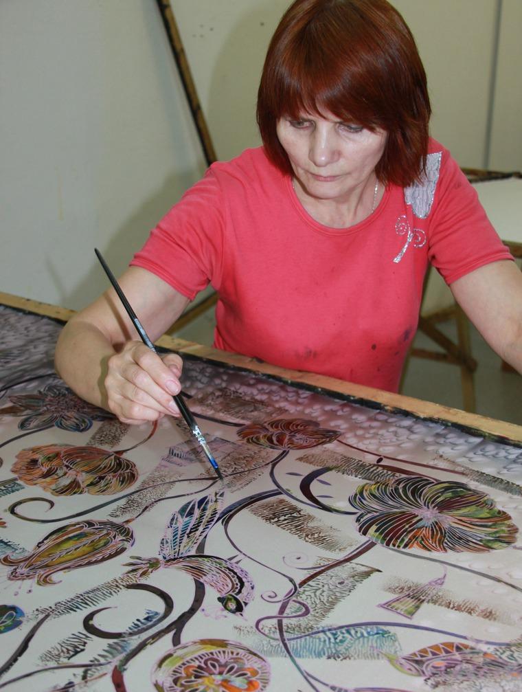 горячий батик, мастер класс по батику, натуральный шёлк, материалы для творчества, краски для батика