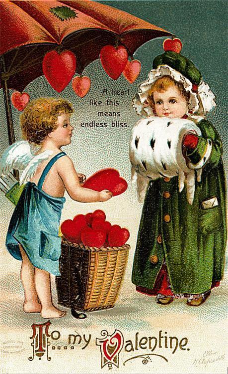 Валентинки винтажные