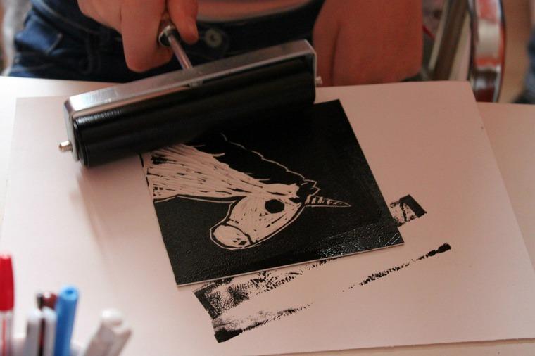 печать, линогравюра в москве, арт-студия