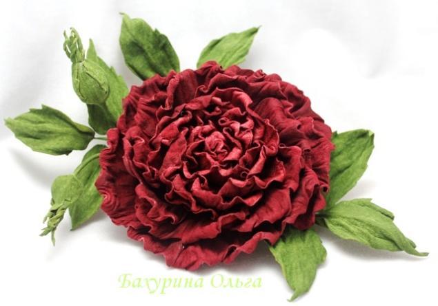 кожаные цветы, цветы ручной работы, брошь из кожи, цветок из кожи, обучение цветоделию