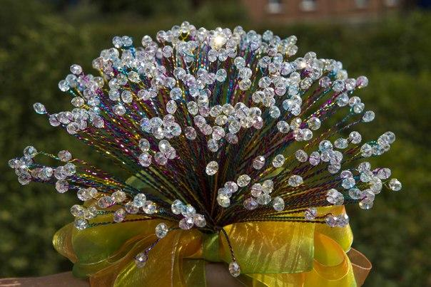 букет, радужная свадьба, jewelry bouquet