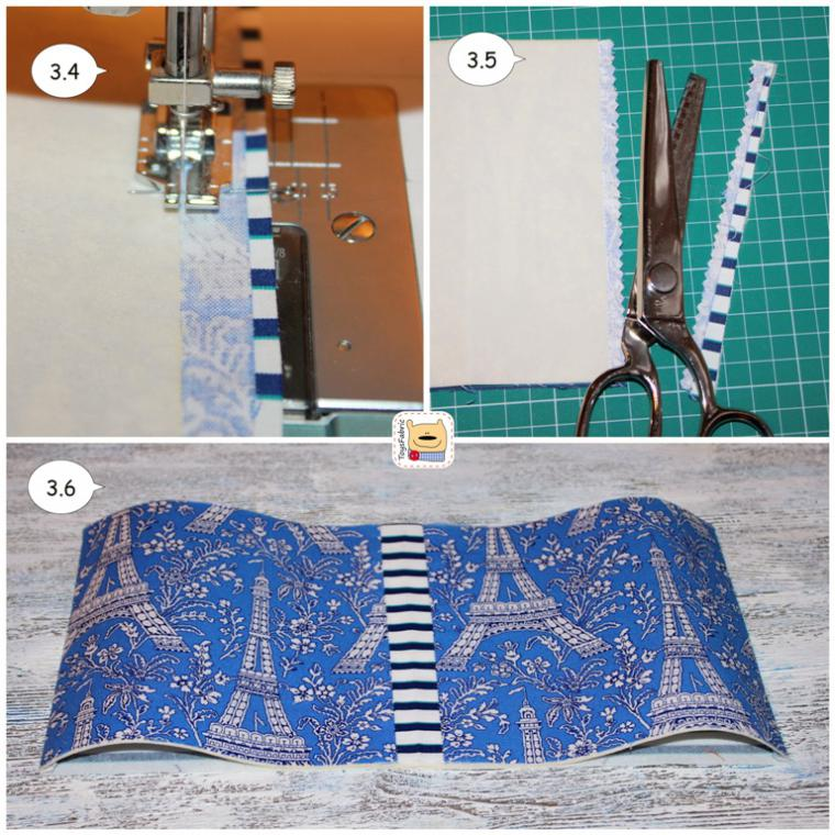 текстильная обложка, обложка для блокнота