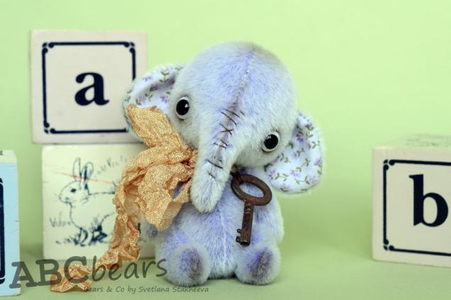 слон, авторская игрушка, ключ
