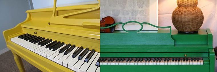 музыкальные инструменты, мебель с декором