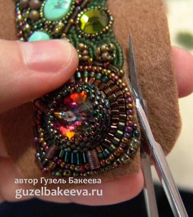 Вышитый бисером браслет Питон - Ярмарка Мастеров - ручная работа, handmade