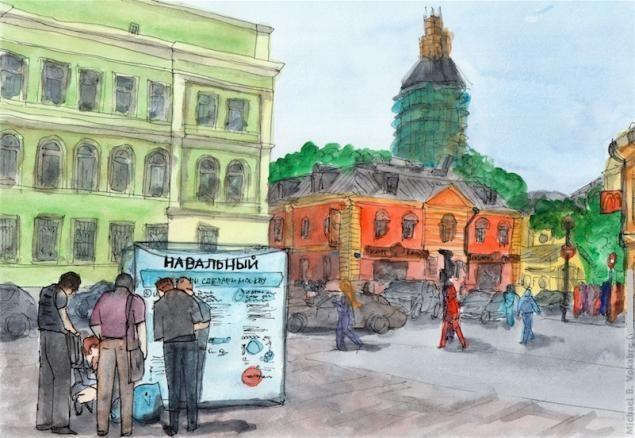 Путешествуем с Михаилом Щербаковым (Vokabre): быстрые зарисовки акварелью, фото № 25