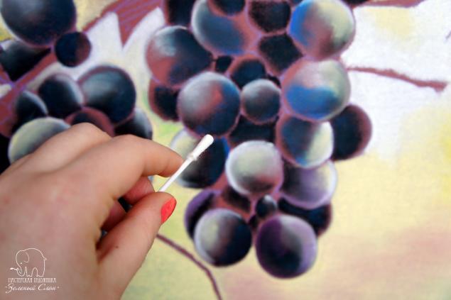 Рисуем зеленый виноград
