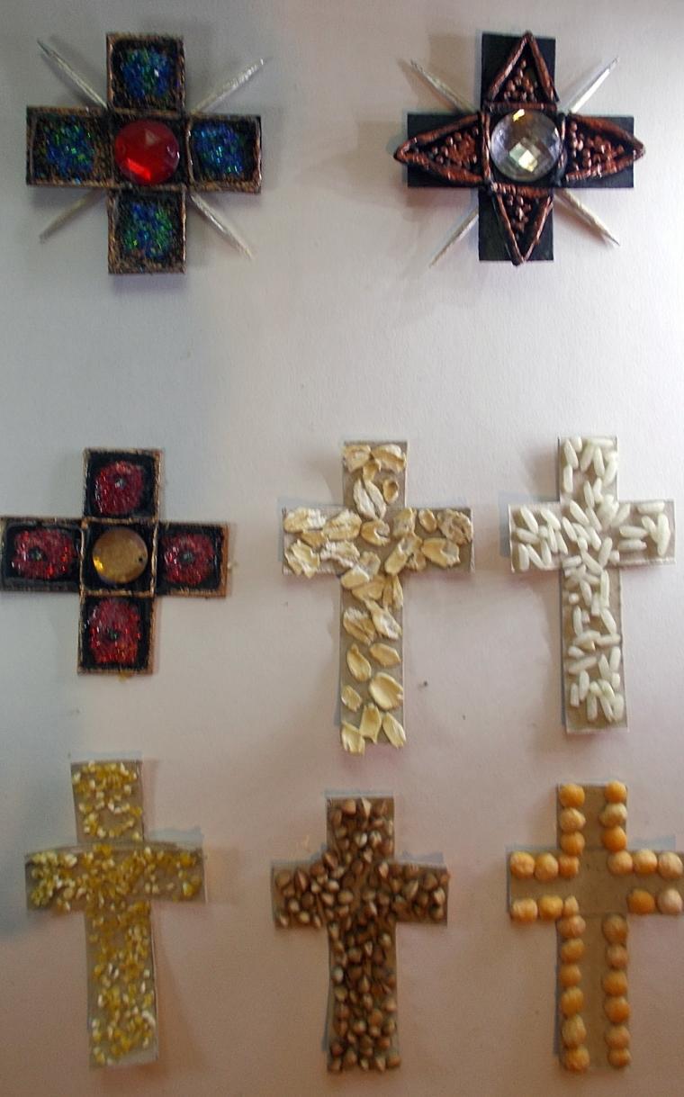 декорирование, поверхость, крупа, крест