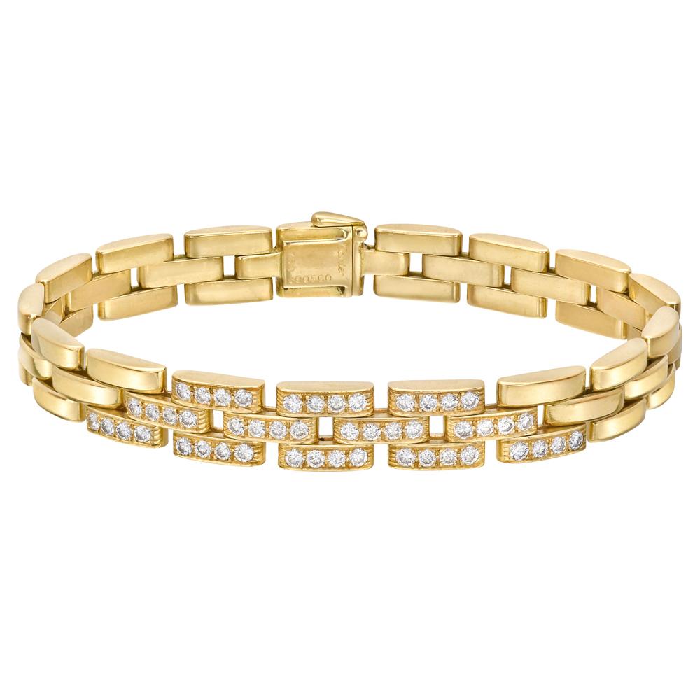 Cartier 18-каратного золота и Diamond