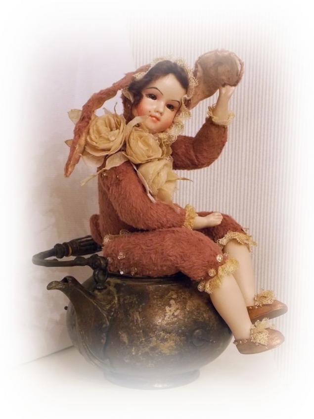 будуарная кукла, тедди долл