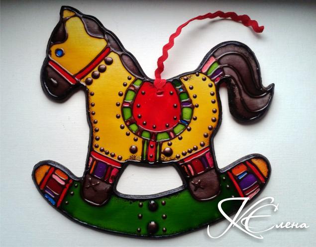 год лошади, новогодний подарок, елочная игрушка