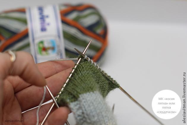 как связать носки, серый