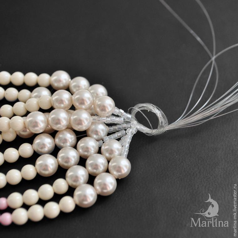 Jellyfish Pendant DIY with Pearls and Swarovski Crystals, фото № 33