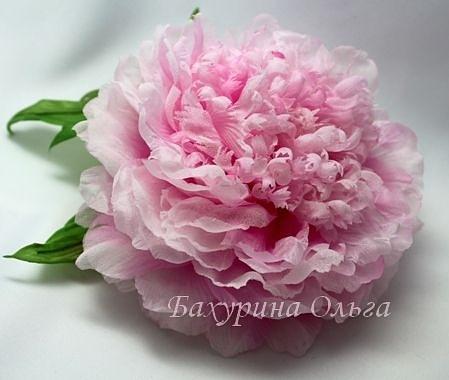 пион, цветы, цветы из шелка, цветок, брошь-цветок, обучение цветоделию