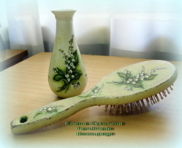 вазы, декупаж вазы