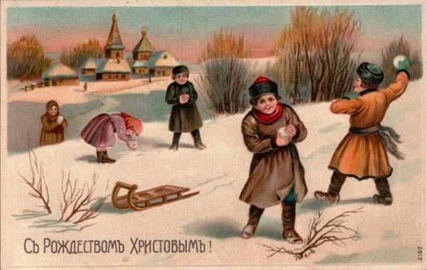 Старинные рождественские открытки: 35 трогательных изображений, фото № 26
