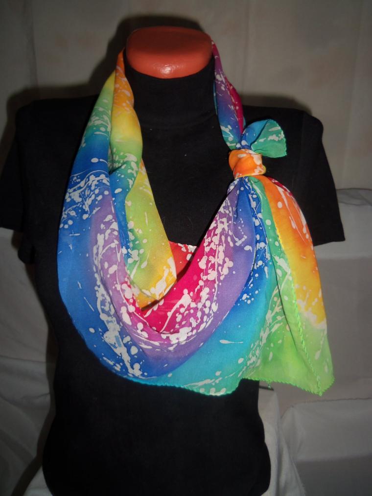 бант из шарфа, женский аксессуар