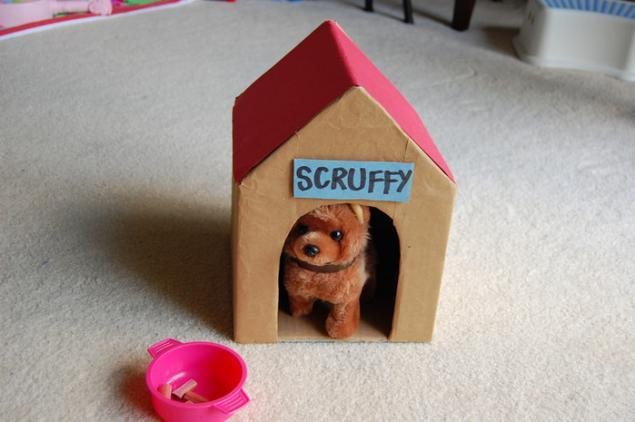 Как сделать собачку из коробок