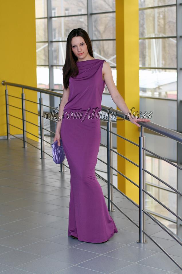 платье в пол, распродажа, длинное, красивое, сиреневое платье