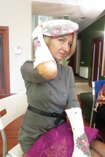 Фотоотчет по валянию сумки с мастером Ириной Бобковой., фото № 21