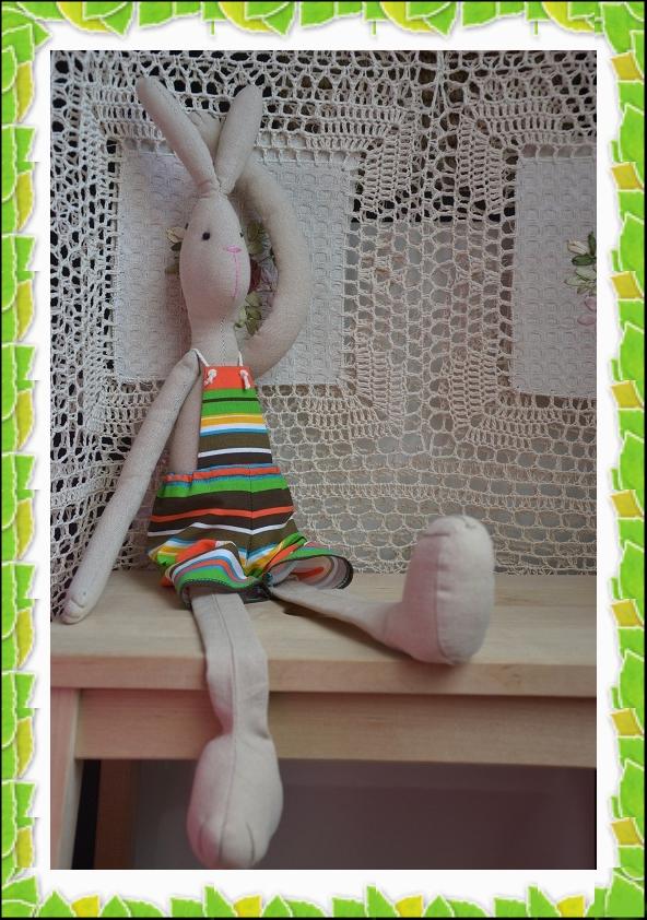 заяц, интерьерная игрушка