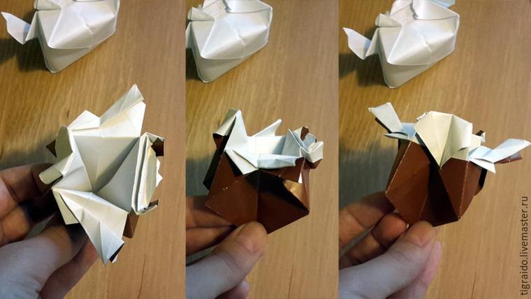Оригами: пасхальная курочка, фото № 20