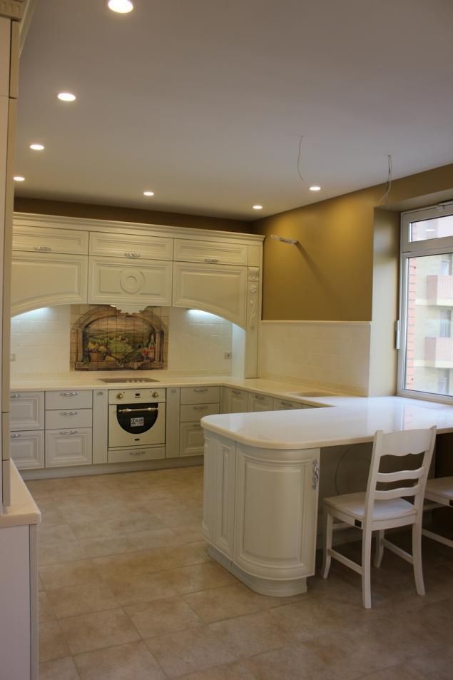 роспись на плитке, кухня