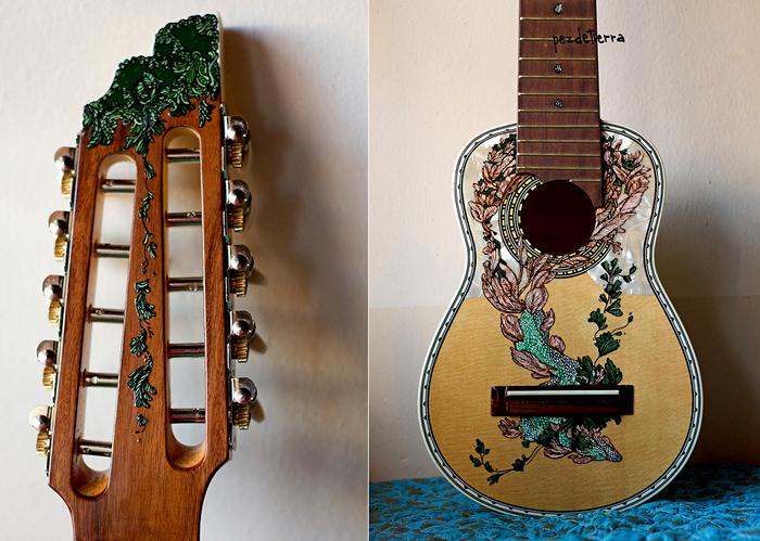 Как в домашних условиях украсить гитару