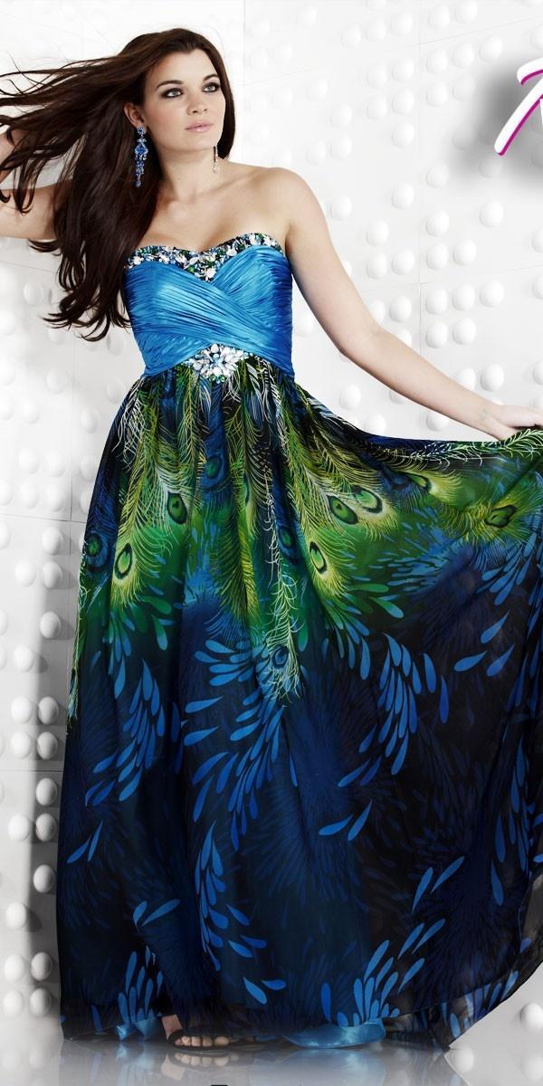 Платья павлиний хвост
