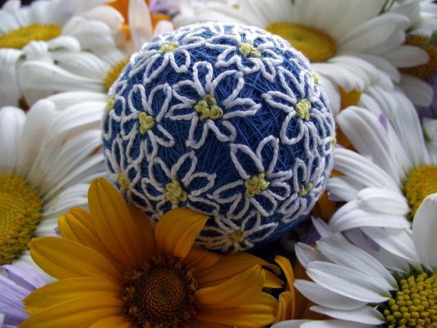 полевые цветы, букет ромашек, темари
