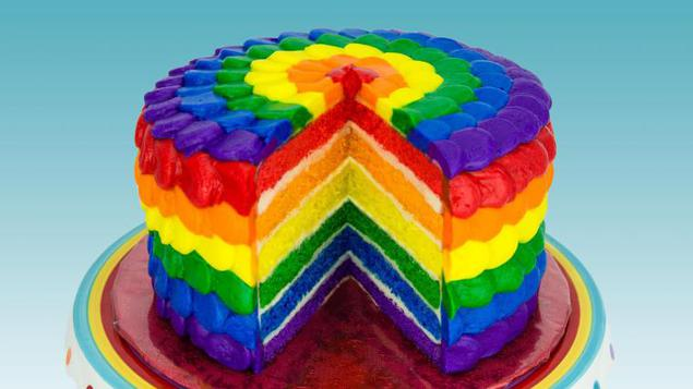 Торт радуга рицепт фото