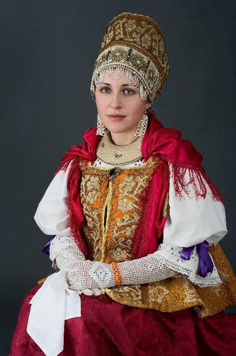 Culture - Woman wearing nice traditional clothing, Russia