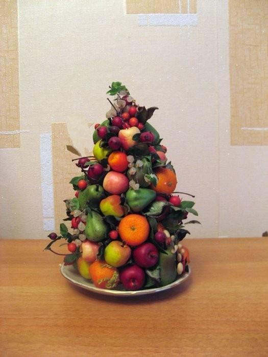 Елка из фруктов своими руками мастер класс