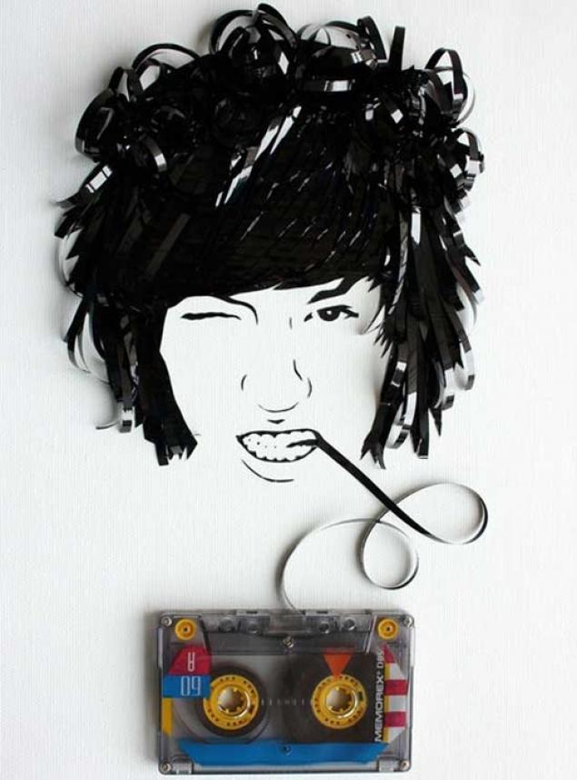 Поделки с кассетной ленты