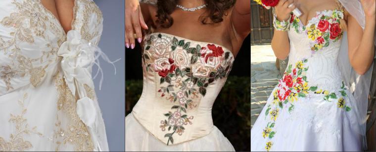 Вышивка схема свадебное платье