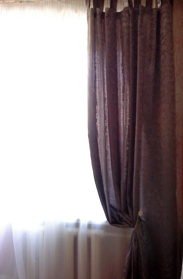 как собрать красиво шторы