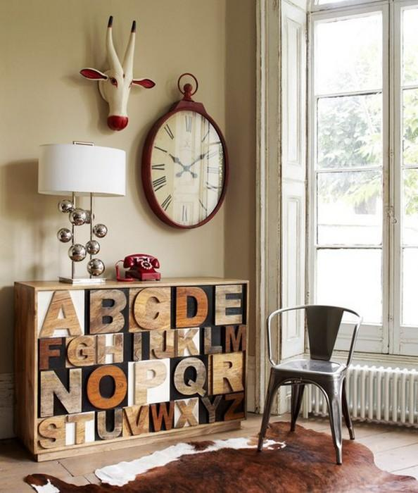 Мысли на виду! (или 60 идей декора стен с помощью слов, букв и цифр), фото № 16