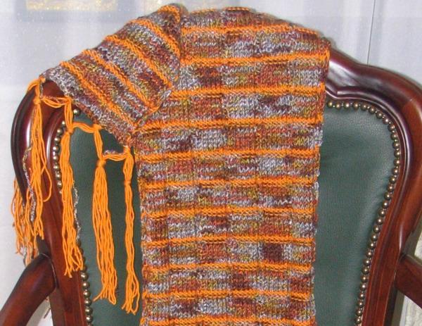 оранжевый, рукоделие, схема