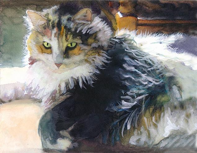 Макияж кошки мастер класс акварель пошагово #1
