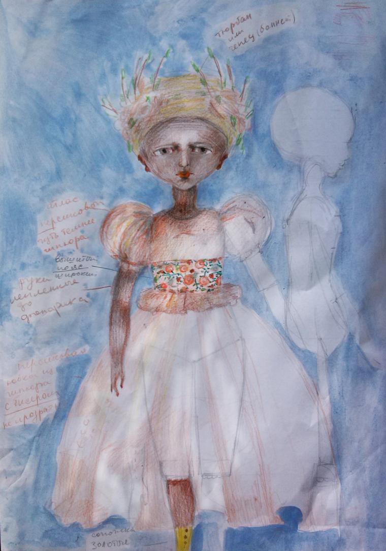 новая кукла, кукла в платье