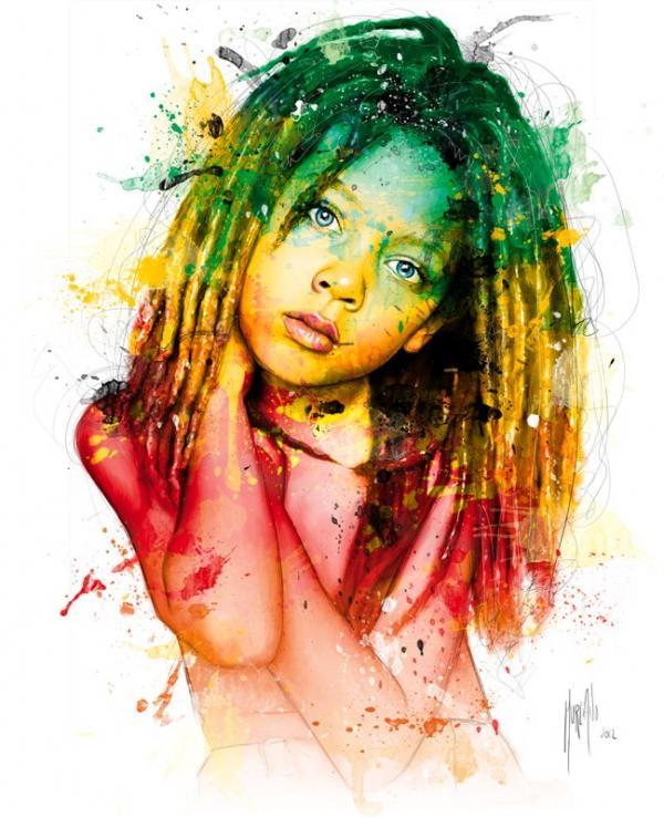 Картинки по запросу яркое нарисованное лицо девочки