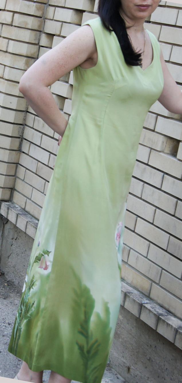 костюм батик, платье летнее, вышивка гладью
