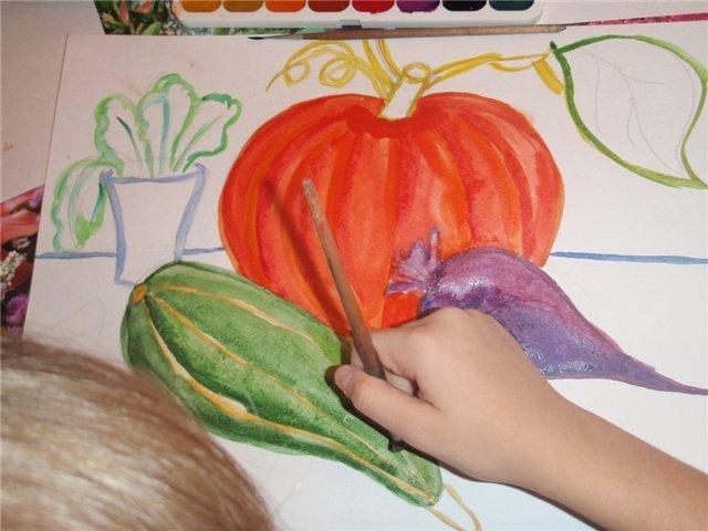 Рисуем с детьми «Осенний натюрморт», фото № 3
