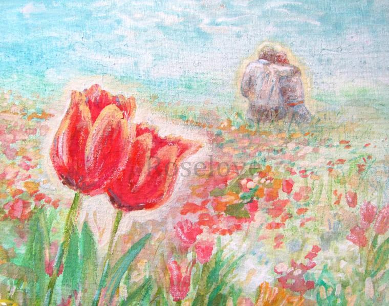 тюльпаны, картина для интерьера